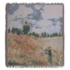 Monet's Coquelicots European Throw