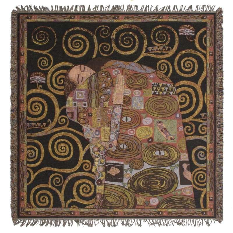 Klimt's Fulfillment European Throw