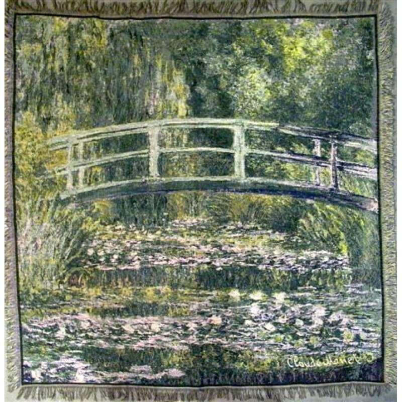 Monet's Bridge At Lake Giverny European Throw