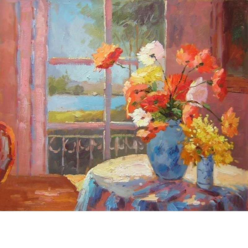 Tabletop Impressions Canvas Oil Painting