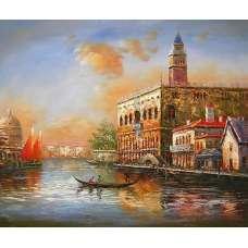 Venetian Sunset Canvas Wall Art