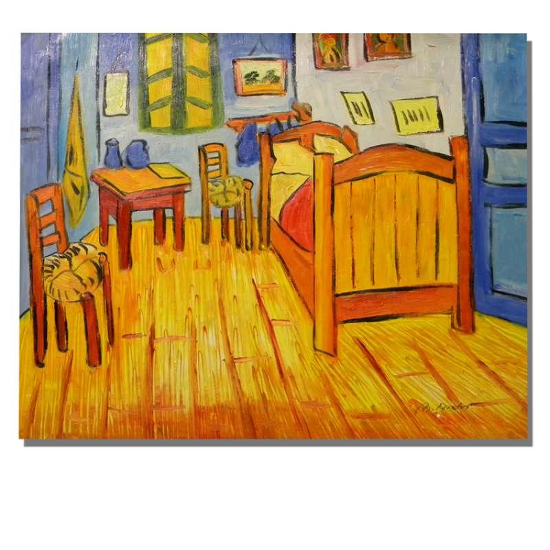 Bedroom at Arles Canvas Wall Art