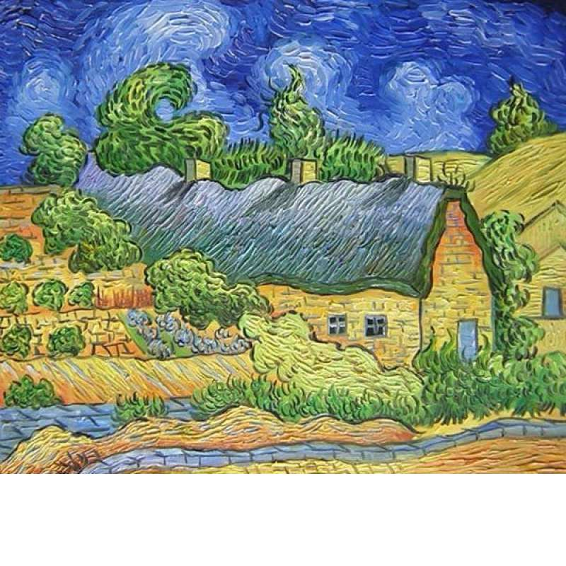 Cottages at Cordeville Canvas Wall Art