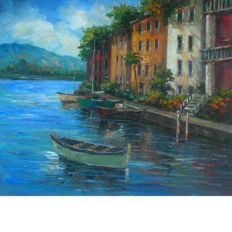 Watercrafts of Venice Canvas Wall Art