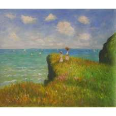 The Cliff Walk at Pourville Canvas Wall Art