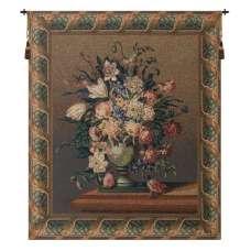 Breughel's Vase Dark Belgian Tapestry Wall Hanging