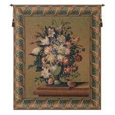 Breughel's Vase Green Belgian Tapestry Wall Hanging