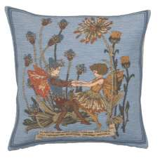 Plantain and Calendula Fairies Cicely Mary Barker  European Cushion Cover