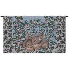 Holiday Bunnies Italian Tapestry Wall Hanging