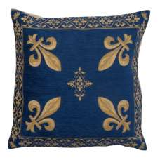 Fleur de Lys Blue III European Cushion Cover