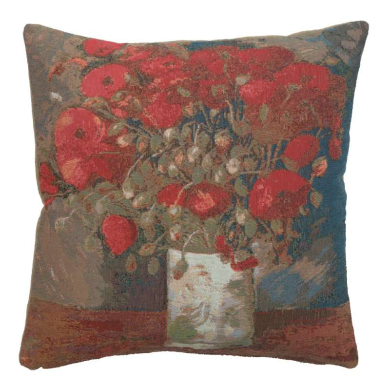 Van Gogh Poppies French Tapestry Cushion