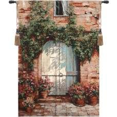 Wooden Doorway Fine Art Tapestry