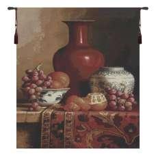 Crimson Still life Tapestry Wall Hanging