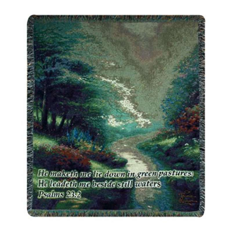 Petals of Hope w/Verse Tapestry Throw
