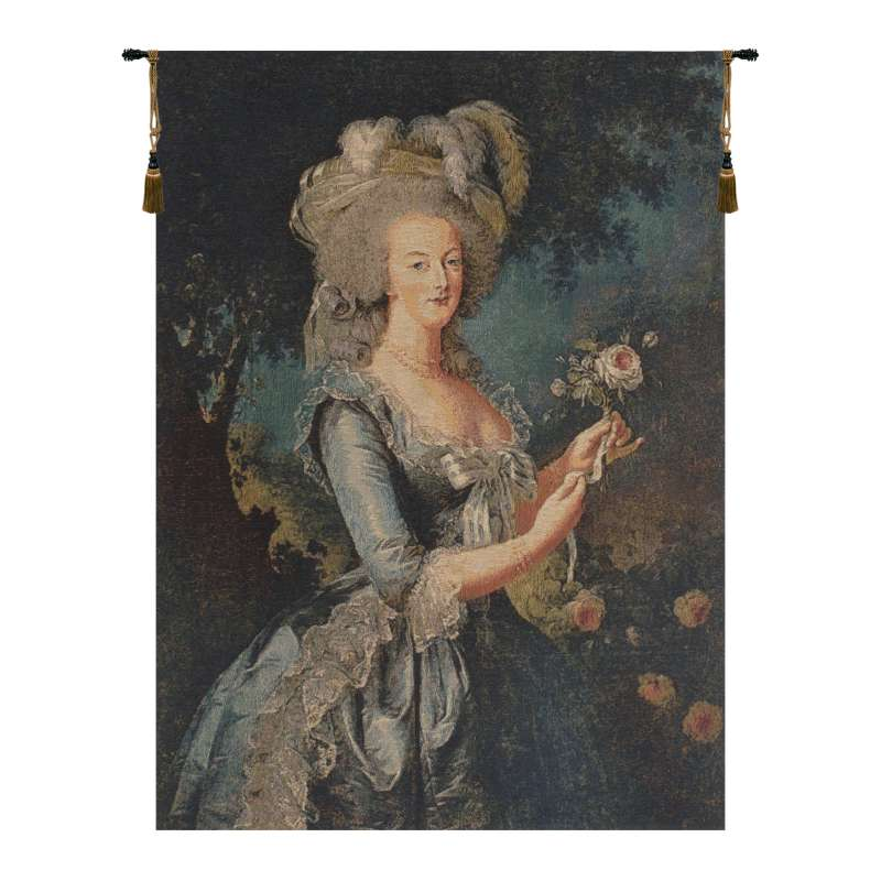 Marie Antoinette with Rose European Tapestry
