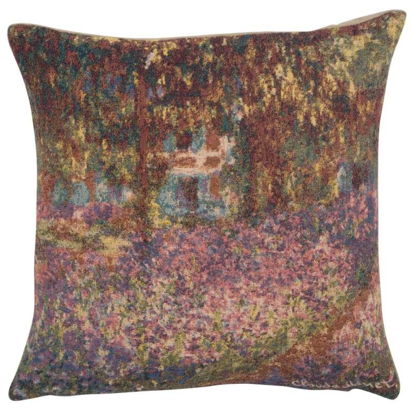 Monet's Iris Garden European Cushion Cover