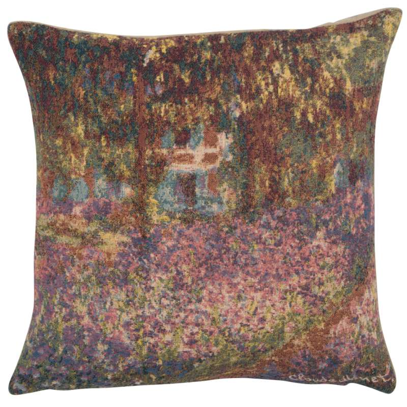 Monet's Iris Garden European Cushion Covers