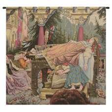 Sleeping Beauty Italian Square Italian Tapestry Wall Hanging