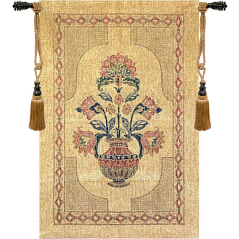 Flowers in Pot European Tapestry
