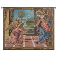 Annunciation Botticelli Italian Tapestry Wall Hanging