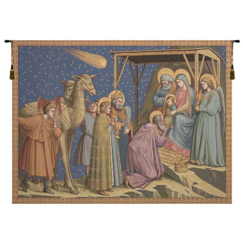 Adoration  Italian Tapestry Wall Hanging