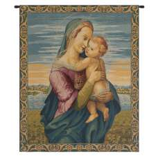 Madonna with Child by Raphael Italian Tapestry Wall Hanging