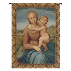 Cowper Madonna by Raphael Italian Tapestry Wall Hanging