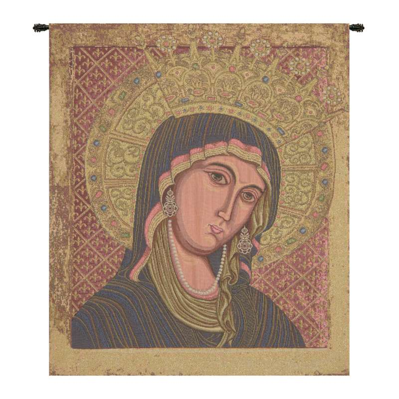 Madonna Di Montegergine Italian Tapestry Wall Hanging