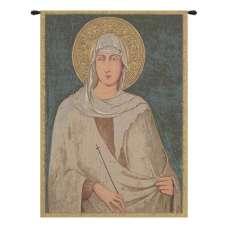 Santa Chiara St. Clare Italian Tapestry Wall Hanging