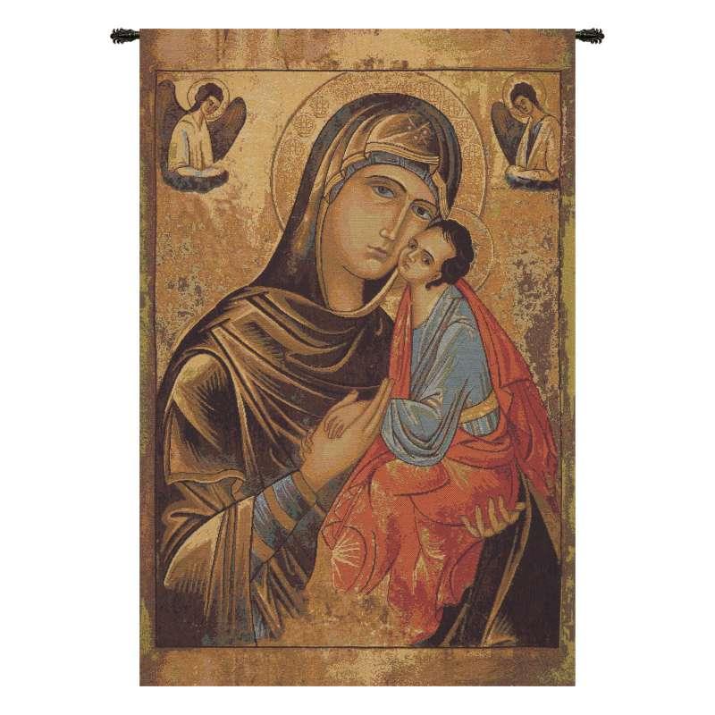Greek Madonna Italian Tapestry Wall Hanging