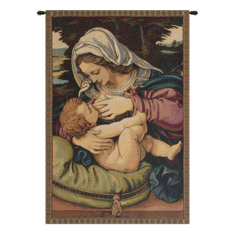 Madonna del Cuscino Italian Tapestry Wall Hanging
