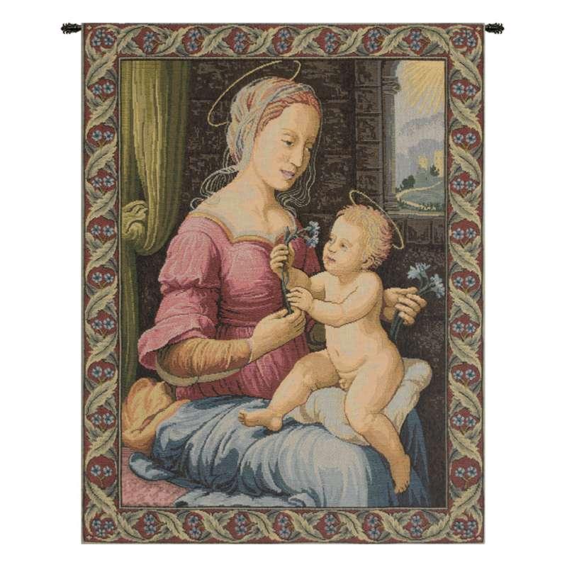 Madonna del Garofano Italian Tapestry Wall Hanging