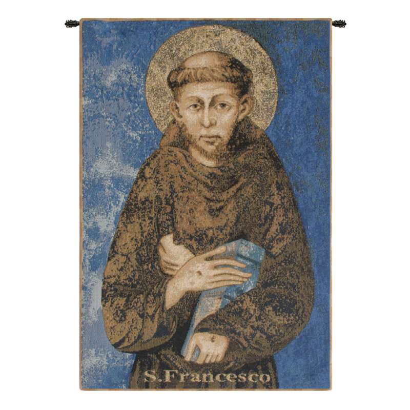 St. Francis From Assisi Italian Tapestry Wall Hanging