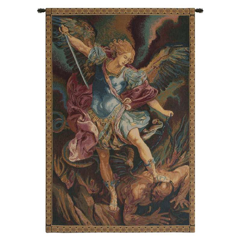 St. Michael Italian Tapestry Wall Hanging