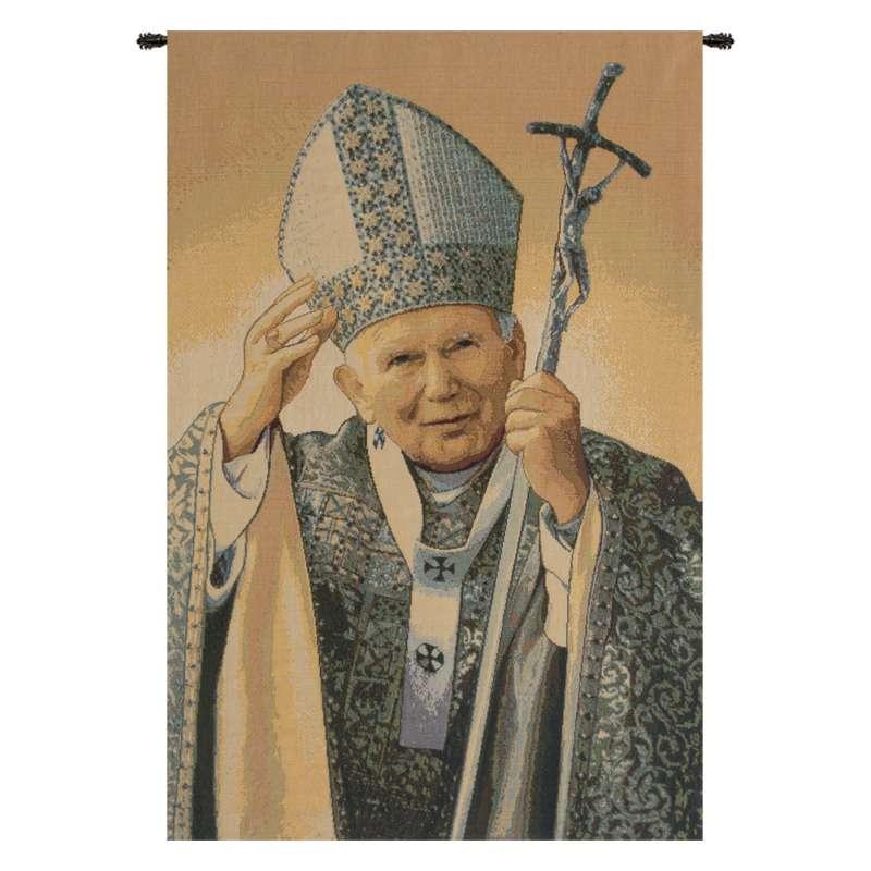 Papa Wojtyla Pope John Paul II Italian Tapestry Wall Hanging