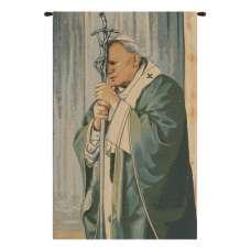 Pope John Paul II  Italian Tapestry Wall Hanging