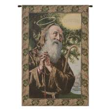 St. Frances from Paola Italian Tapestry Wall Hanging