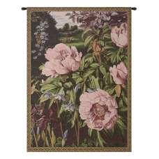 Pink Peonies Italian Tapestry Wall Hanging