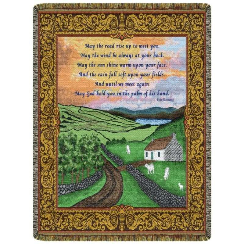 Irish Blessing  Tapestry Throw