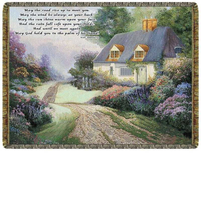 Cottage  Path  Tapestry Throw