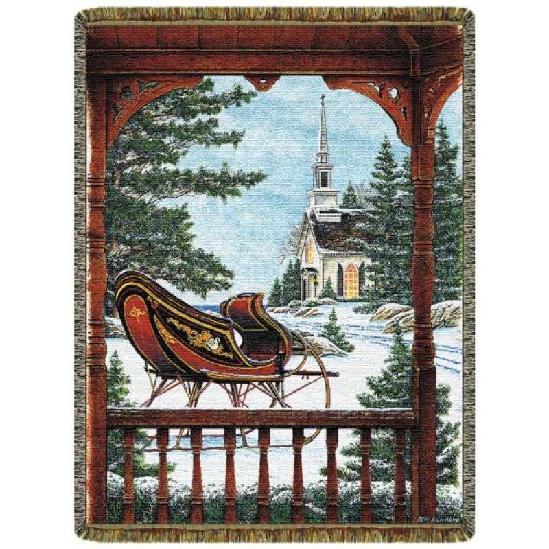 White Christmas  Tapestry Throw