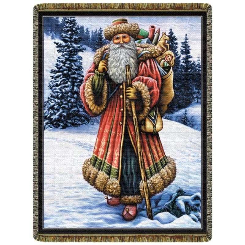 Christmas Santa  Tapestry Throw