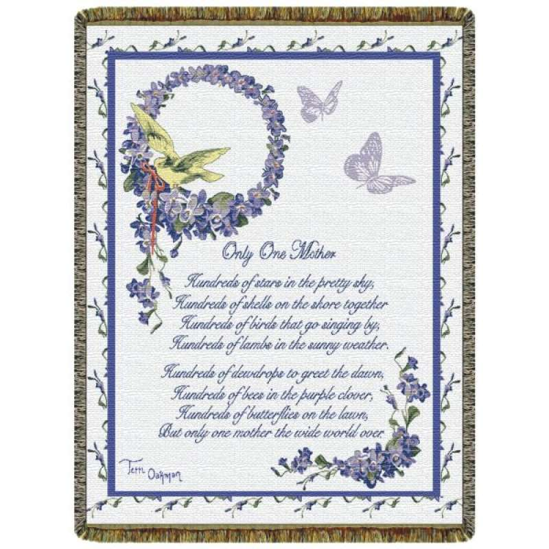 Only One Mother  Tapestry Throw