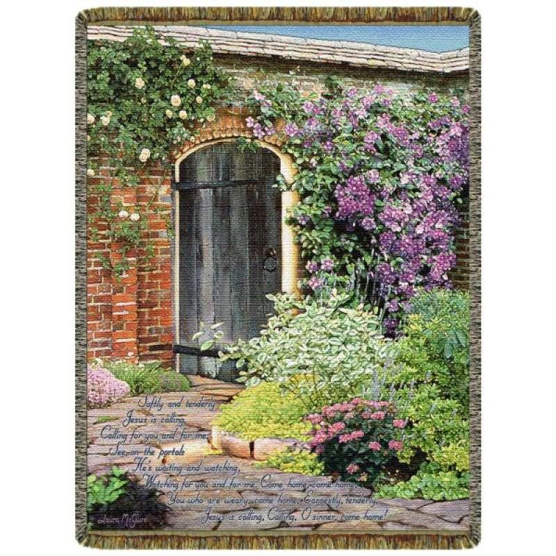 Secret Garden  Tapestry Throw