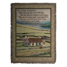 Irish Blessing II  Tapestry Throw