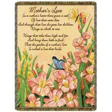 Mother's Love  Tapestry Throw