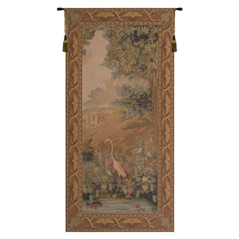 Le point Deau Flamant Rose French Tapestry Wall Hanging