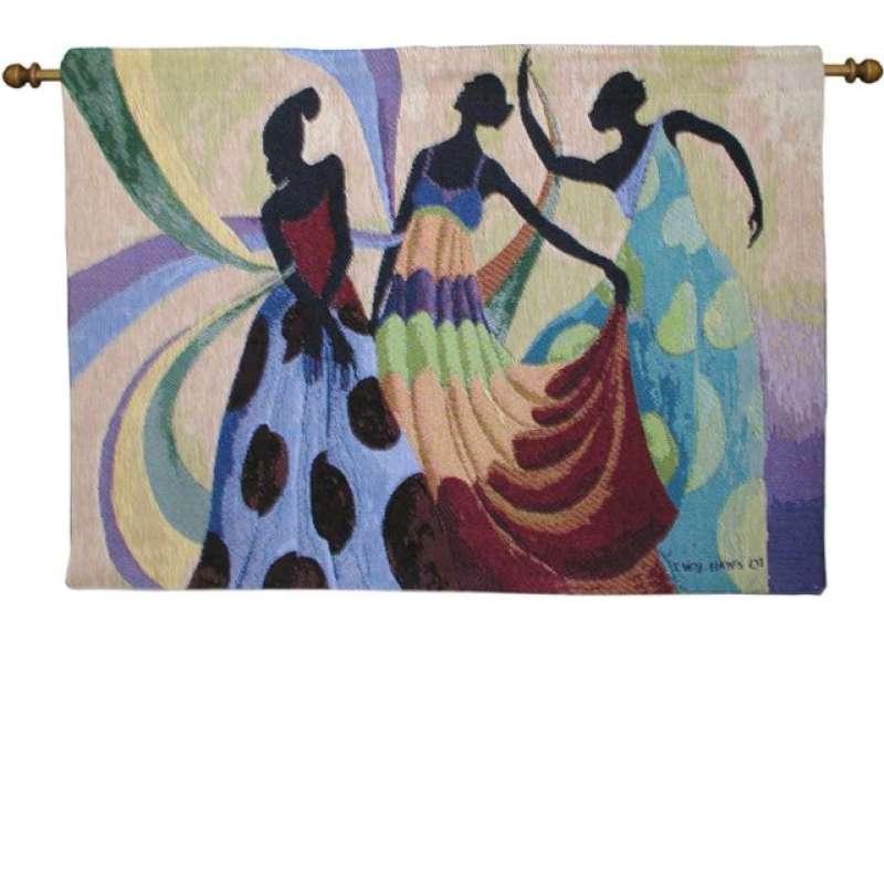 Dancers in Black Skin II Tapestry Wall Hanging