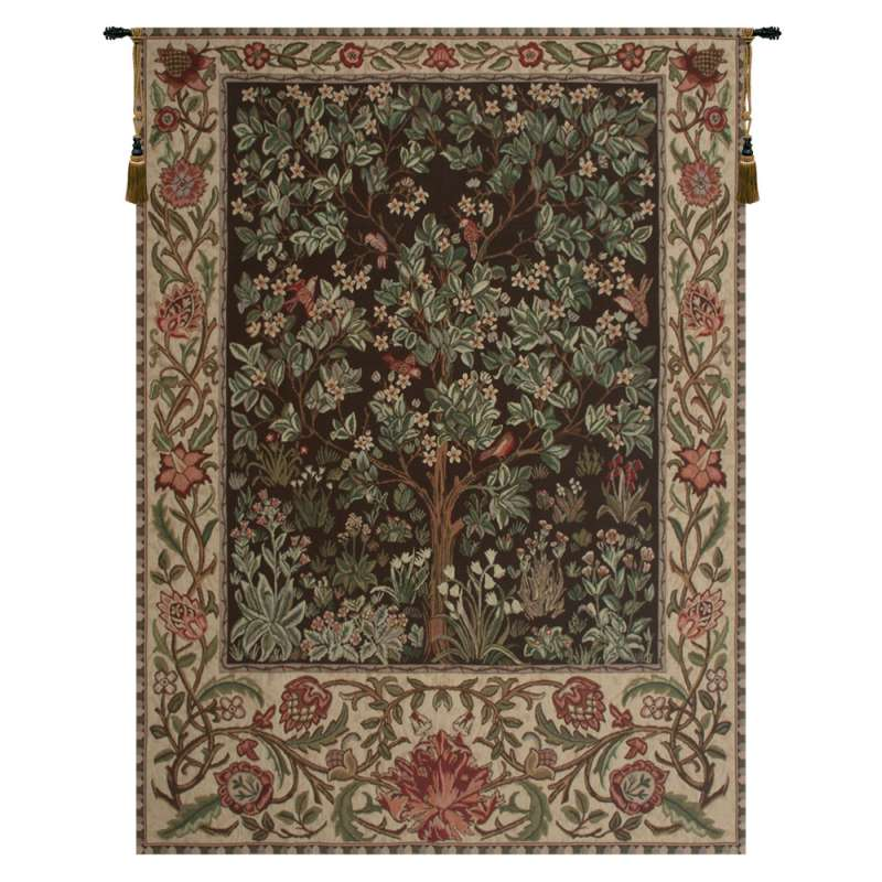 Tree of Life - Brown European Tapestry Wall Hanging