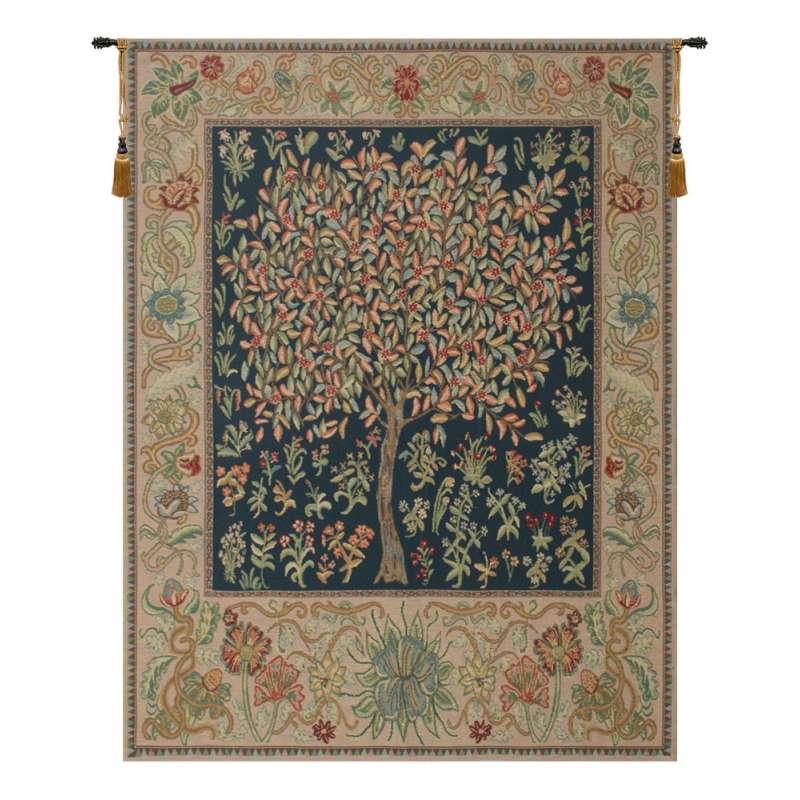 Pastel Tree of Life European Tapestry Wall Hanging